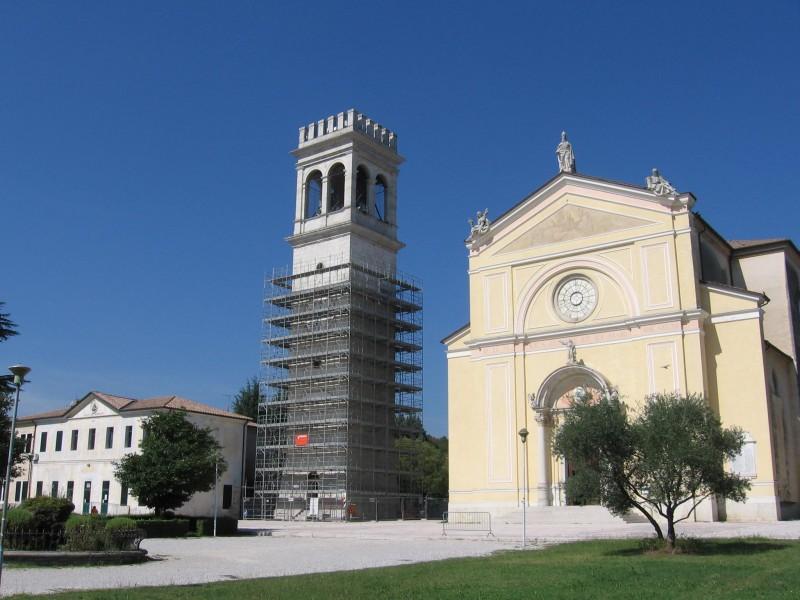 Restauro del campanile della chiesa di San Zenone VM