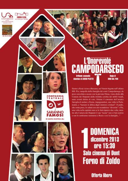 Manifesto L'Onorevole Campodarsego Forno di Zoldo